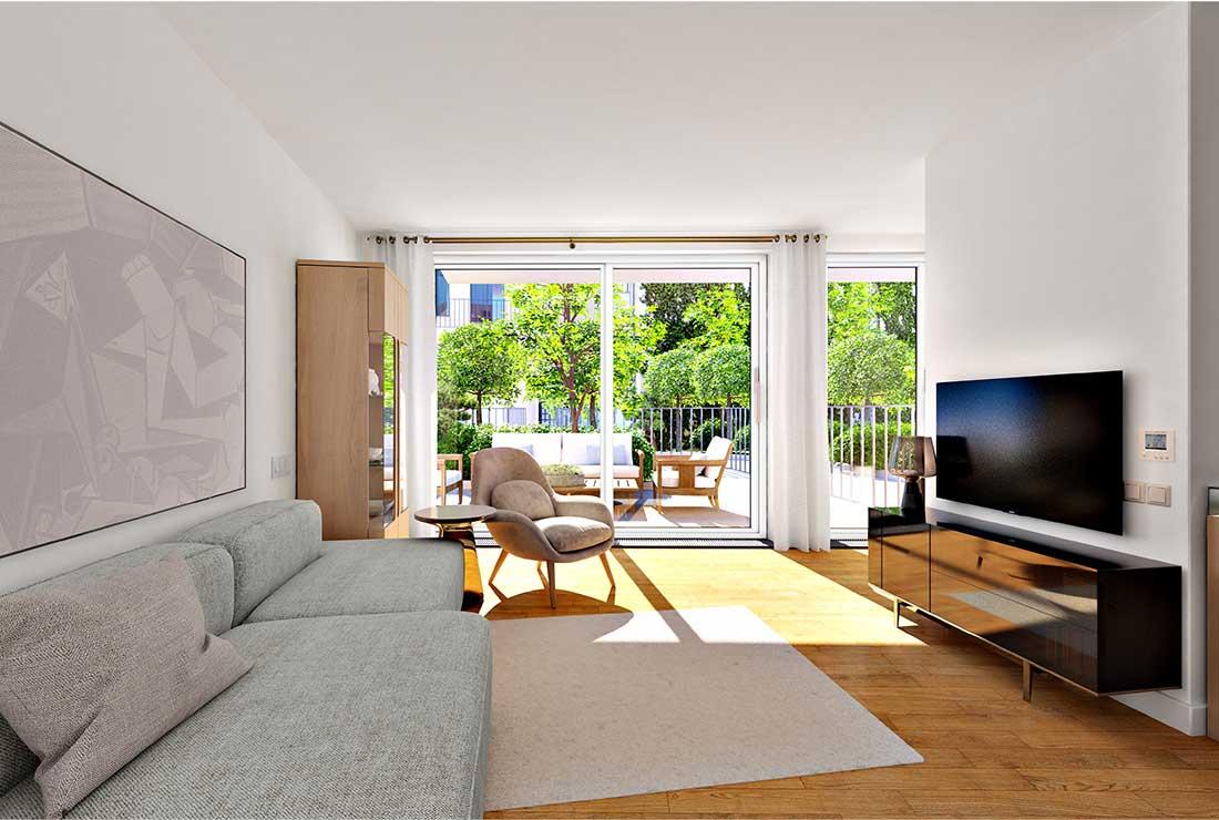 Top 21 Wohnzimmer mit Blick auf die Terrasse